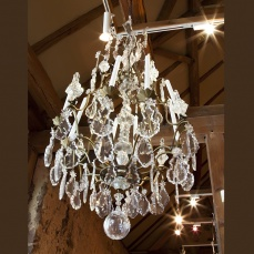 French Crystal Chandelier - antique