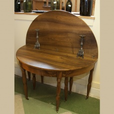 Flip Top Round Table- Antique