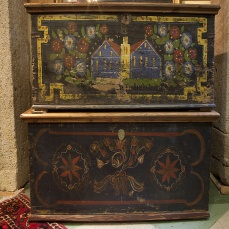 Painted Blanket Chest - antique
