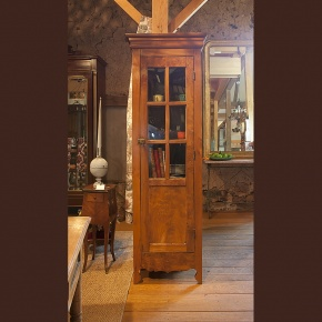 Narrow 1 Door Cabinet   Antique