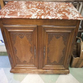 Red Rouge Marble top Buffet - antique